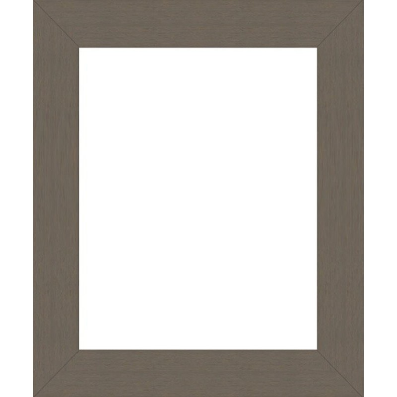 encadrement bois large plat gris souris sur mesure. Black Bedroom Furniture Sets. Home Design Ideas