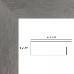 Cadre plat strié gris