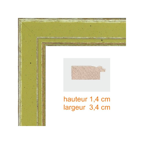 encadrement bois vert olive a vos mesures sur cadres et encadrements eu hauteur en cm 18