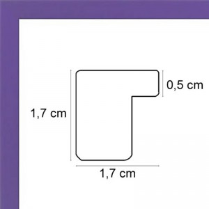 Cadre plat violet mat