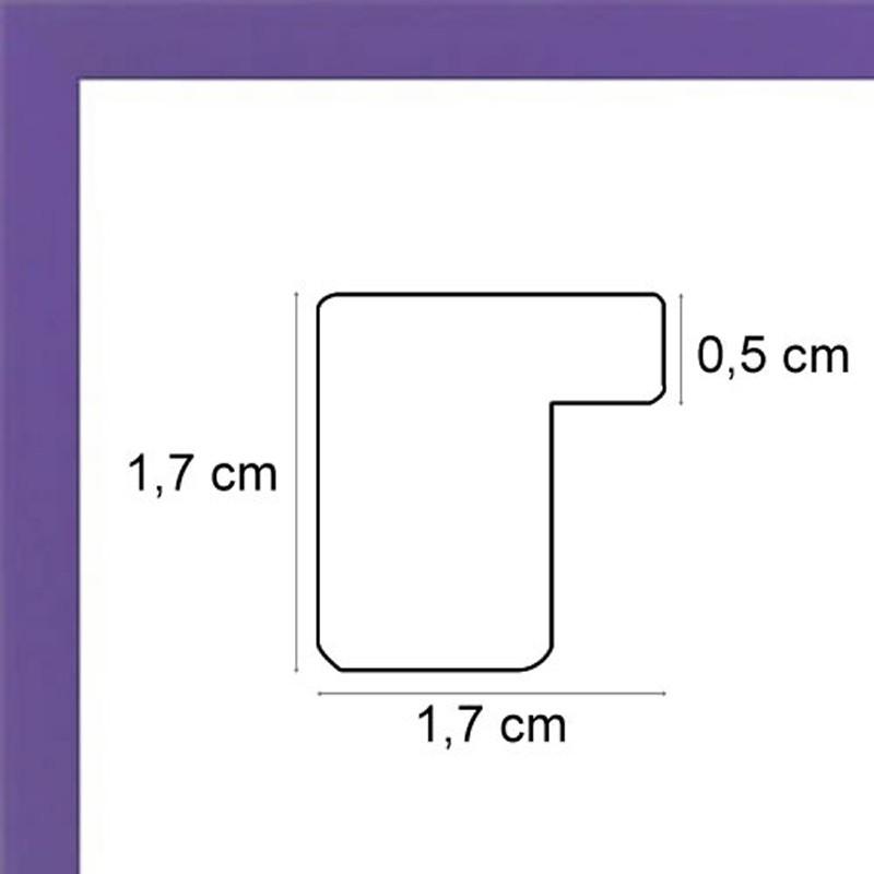 encadrement violet mat avec verre et dos cadre pas cher sur cadres et. Black Bedroom Furniture Sets. Home Design Ideas