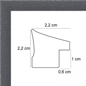 Cadre gris tacheté blanc