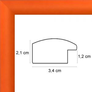 Cadre sur mesure arrondi orange