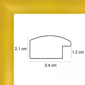 Cadre sur mesure arrondi jaune