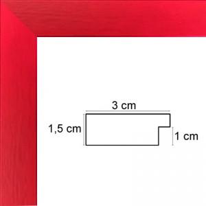 Plat rouge ferrari satiné 3 cm