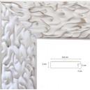 Encadrement  blanc mat décapé