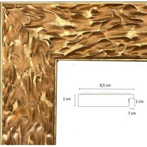 Encadrement doré brillant fond mat