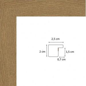 Plat chêne foncé 2,5 cm