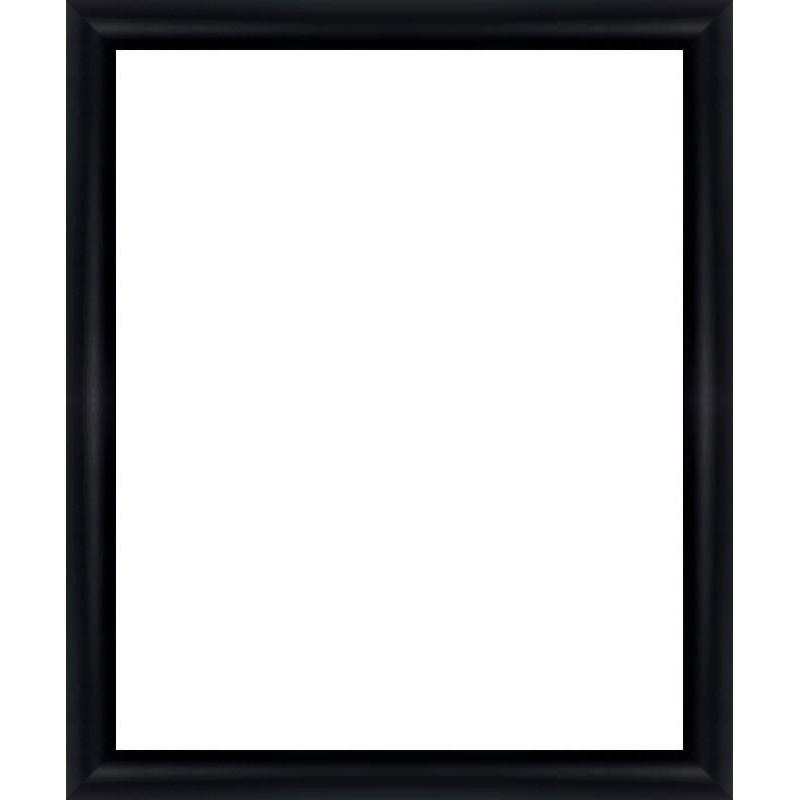 encadrement bois arrondi noir avec verre et dos sur cadre et encadrement 75x50. Black Bedroom Furniture Sets. Home Design Ideas