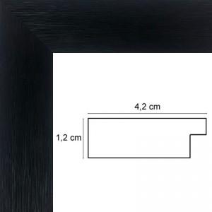 Cadre plat strié noir