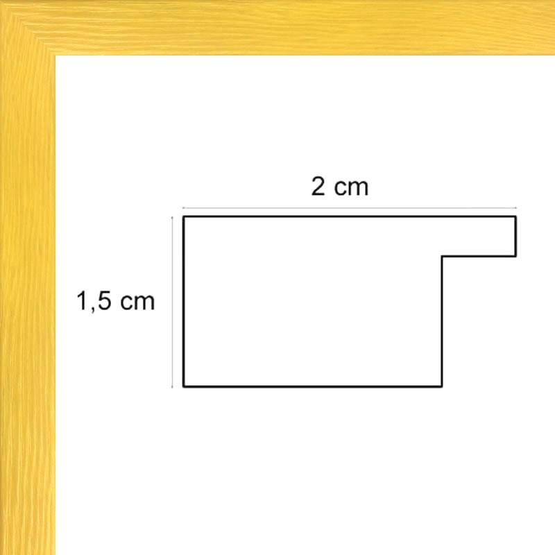 cadre bois plat jaune avec verre et dos sur cadres et. Black Bedroom Furniture Sets. Home Design Ideas