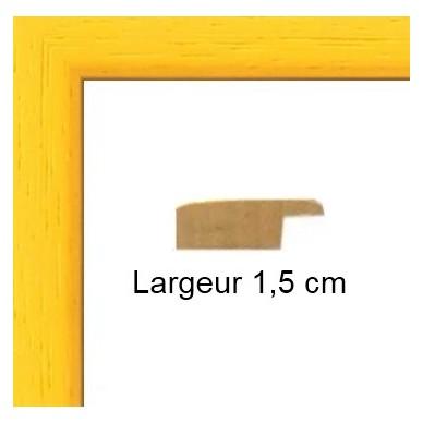 encadrement mat jaune sur mesure avec verre et dos sur cadres et. Black Bedroom Furniture Sets. Home Design Ideas