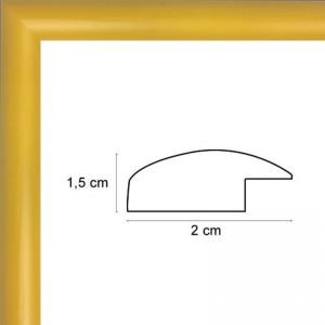 Cadre arrondi jaune