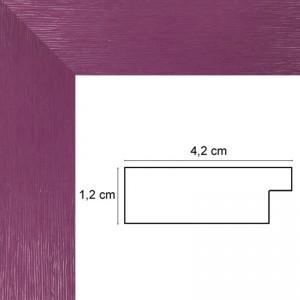 Cadre plat strié violet