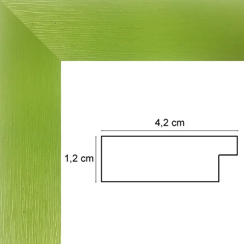 encadrement bois plat stri vert anis avec verre et dos sur cadre et encadrement. Black Bedroom Furniture Sets. Home Design Ideas