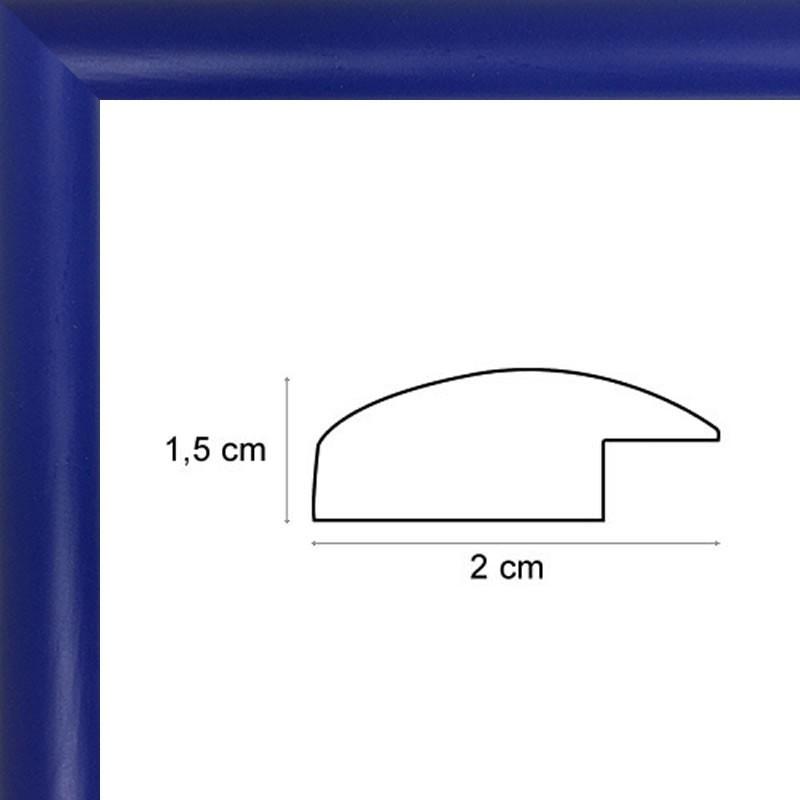 encadrement arrondi bleu roi sur mesure avec verre et dos sur cadres et. Black Bedroom Furniture Sets. Home Design Ideas