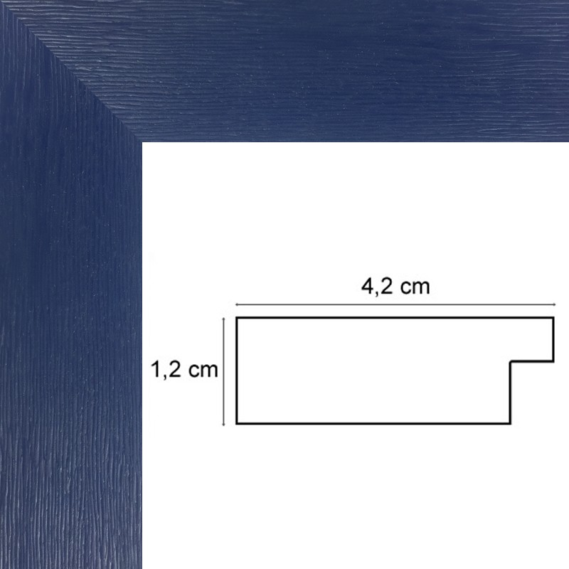 encadrement bois plat stri bleu vente petits prix sur cadres et. Black Bedroom Furniture Sets. Home Design Ideas