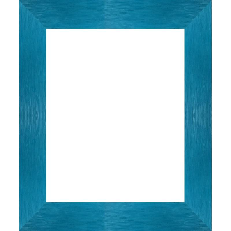 encadrement bois plat stri bleu turquoise vos mesures sur cadres et. Black Bedroom Furniture Sets. Home Design Ideas