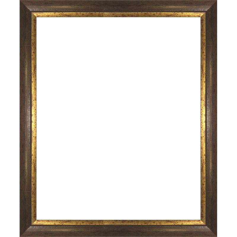 encadrement bois marron filet or avec verre et dos sur cadres et. Black Bedroom Furniture Sets. Home Design Ideas