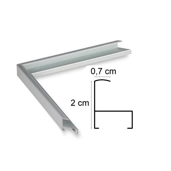 cadre aluminium argent sur mesure avec plexiglas et dos sur cadre et encadrement. Black Bedroom Furniture Sets. Home Design Ideas