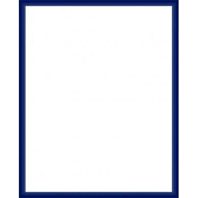 cadre aluminium bleu sur mesure avec plexiglas et dos sur cadre et. Black Bedroom Furniture Sets. Home Design Ideas