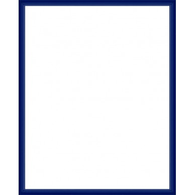 cadre aluminium bleu sur mesure avec plexiglas et dos sur. Black Bedroom Furniture Sets. Home Design Ideas