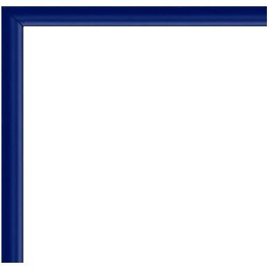 cadre aluminium bleu 80x60 avec plexiglas et dos sur cadre et. Black Bedroom Furniture Sets. Home Design Ideas
