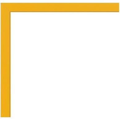 cadre aluminium jaune sur mesure avec plexiglas et dos sur cadre et. Black Bedroom Furniture Sets. Home Design Ideas
