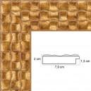 Cadre sur mesure tressage doré