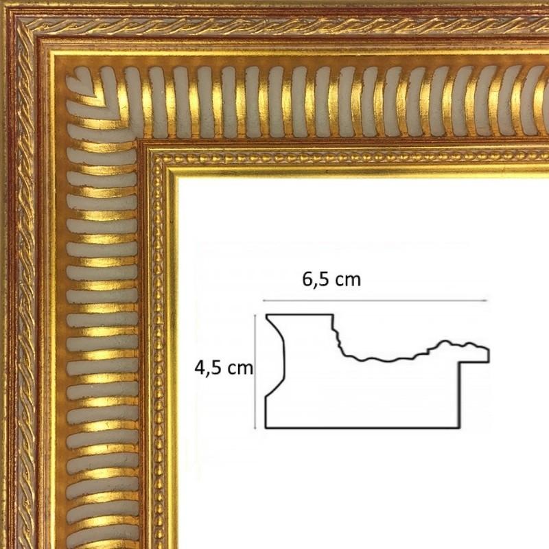 cadre bois empire cannaux or sur mesure en vente sur cadres et. Black Bedroom Furniture Sets. Home Design Ideas
