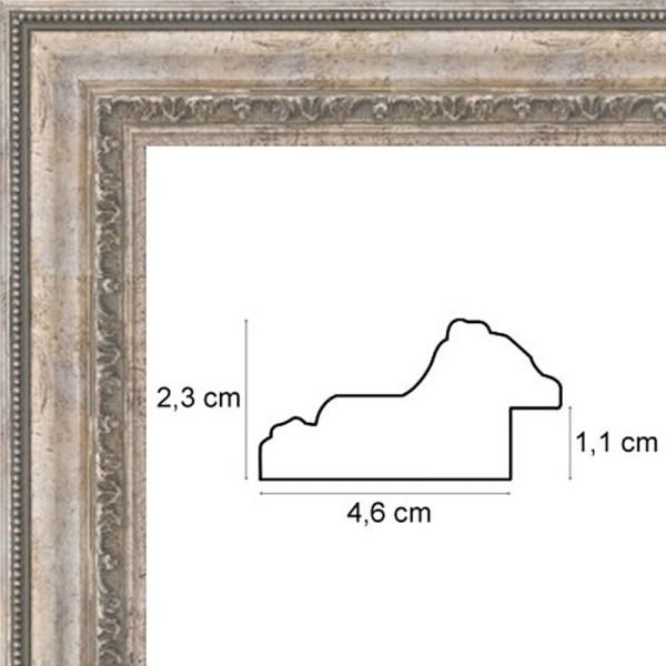 cadre vieil argent encadrement vieil argent de 4 6 cm. Black Bedroom Furniture Sets. Home Design Ideas