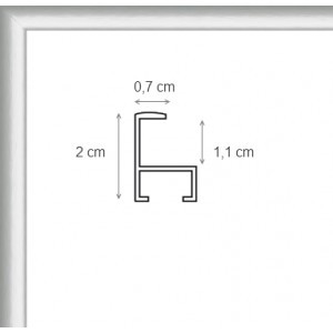 Cadre Aluminium Argent