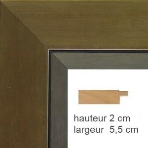 Encadrement Plat Alu Bronze Marie-Louise Alu Clair