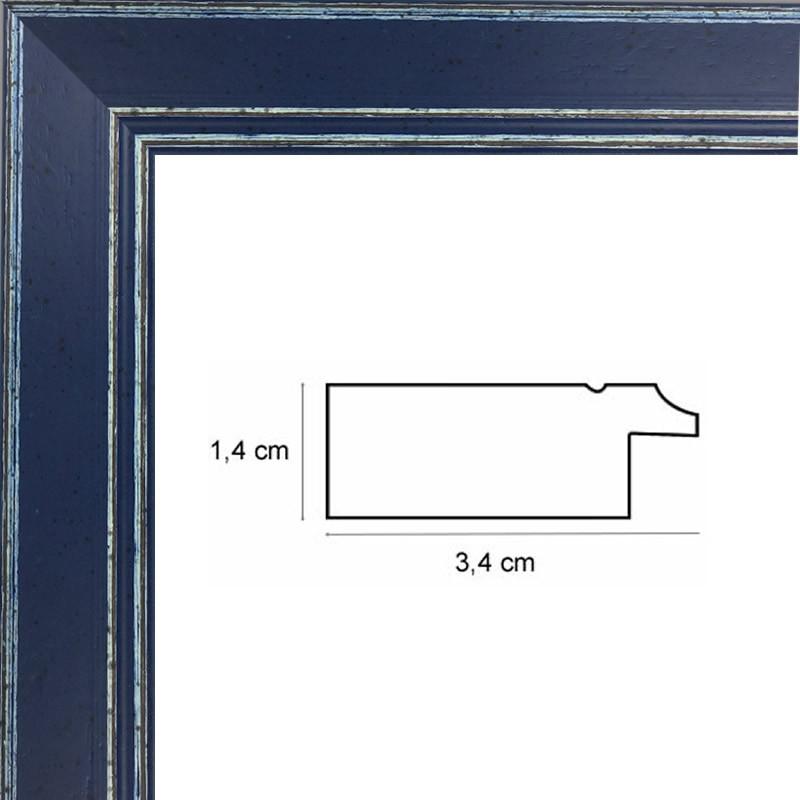 cadre d 39 art en bois bleu sur mesure vente en ligne sur. Black Bedroom Furniture Sets. Home Design Ideas