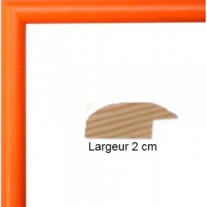 Cadre Arrondi Orange