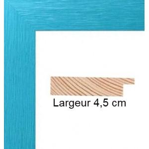 Cadre Plat strié Bleu Turquoise