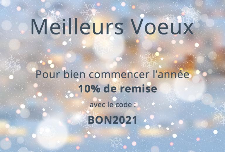 10% de remise avec le code BON2021